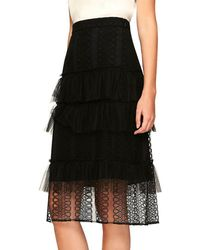 Burberry - Mesh Lace Skirt - Lyst