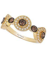Le Vian - ® Chocolatier® 14k 0.64 Ct. Tw. White & Brown Diamond Ring - Lyst