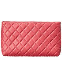 44ebcae990c4 Lyst - Chanel 2016 Small Patchwork Lambskin O-case Pink in Metallic
