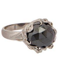 Anzie - Classique Silver Gemstone Ring - Lyst