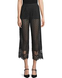 Anna Sui - Dot Mesh Cropped Trouser - Lyst