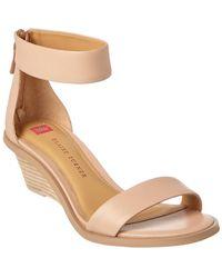 Elaine Turner - Zahara Leather Wedge Sandal - Lyst