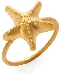 Valentino - Starfish Charm Midi Ring - Lyst