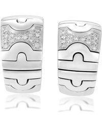 BVLGARI - Heritage Bulgari Parentesi 18k 0.50 Ct. Tw. Diamond Earrings - Lyst