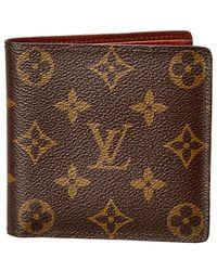 2d6d0500408 Louis Vuitton - Monogram Canvas Marco Wallet - Lyst