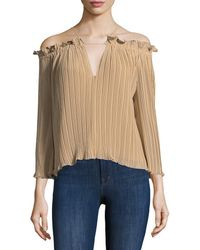 Walter Baker - Fritz Pleated Top - Lyst