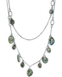 Sparkling Sage - Plated Resin Multi-strand Necklace - Lyst