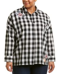 Skies Are Blue - Plus Plaid Woven Shirt - Lyst