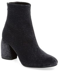Pure Navy - Leather Bootie - Lyst