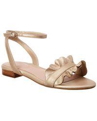 Taryn Rose - Vesta Metallic Leather Sandal - Lyst