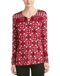 NYDJ - Batik Print Top - Lyst