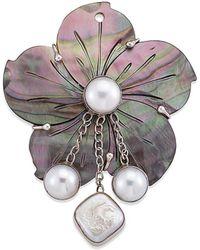 Samuel B. - Silver Pearl Pendant - Lyst