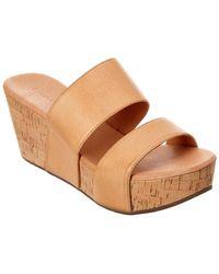 Chocolat Blu - Waller Leather Wedge Sandal - Lyst
