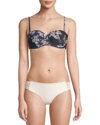 RACHEL Rachel Roy - Floral Molded Bikini Top - Lyst