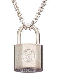 Louis Vuitton - Silver-tone Lockit Pendant Necklace - Lyst