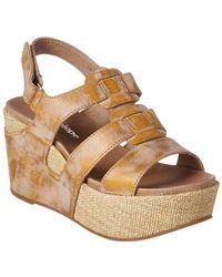 Antelope - 876 Leather Wedge Sandal - Lyst