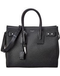 Lyst - Saint Laurent Crocco Print Leather Sac Du Jour Top Handle Bag ... 2811149fc8624
