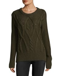 Marissa Webb - Gordon Mixed Cable Sweater - Lyst