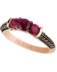 Le Vian - ? 14k Rose Gold 1.41 Ct. Tw. Diamond & Rhodolite Ring - Lyst
