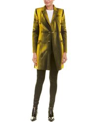 Moschino - Wool-blend Long Over Coat - Lyst