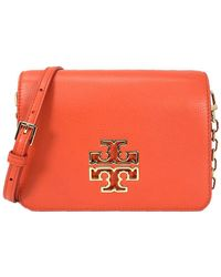 e81592bd569 Tory Burch Greer Mini Metallic Leather Crossbody Bag in Metallic - Lyst