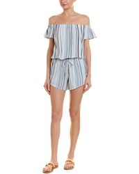 Splendid - Line Of Site Off-the-shoulder Romper - Lyst