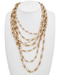 Carolee - Cosmic Reflections 12k Plated Multi-strand Necklace - Lyst