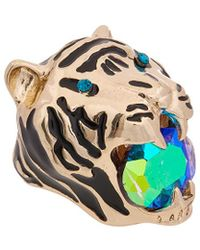 Betsey Johnson - Mystic Baroque Queens Gold Tiger Statement Ring - Lyst