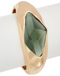 Robert Lee Morris - The Bigger Stone Plated Cz Statement Bracelet - Lyst