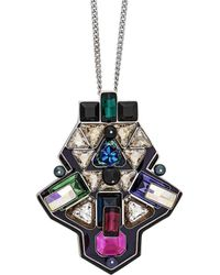 Swarovski - Crystal Buzz Plated Necklace - Lyst