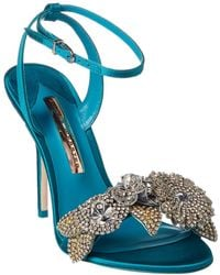 Sophia Webster - Lilico Crystal Satin Sandal - Lyst
