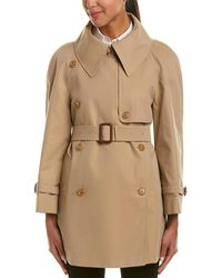 Burberry - Exaggerated Collar Cotton Trench Coat - Lyst