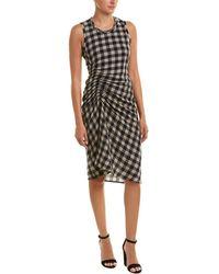 James Perse - Spiral Wool & Linen-blend Sheath Dress - Lyst