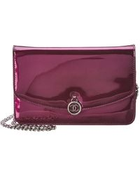 Chanel - Purple Patent Leather Wallet On Chain - Lyst