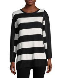 4809c17ec37 Lyst - Missguided Ollie V-Neck Fluffy Knit Jumper In Black in Black