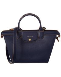 0ef039d9afc Longchamp - Le Pliage Heritage Medium Leather Top Handle Tote - Lyst