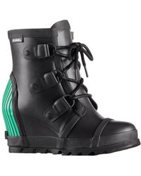 Sorel - Joan Rain Wedge Waterproof Boot - Lyst