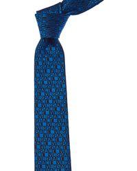 Versace - Blue Logo Silk Tie - Lyst