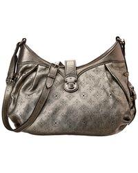 Louis Vuitton - Silver Monogram Mahina Leather Xl - Lyst