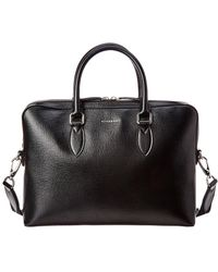 Burberry - Slim Barrow Leather Briefcase - Lyst