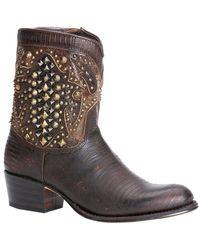 Frye - Deborah Deco Short Leather Boot - Lyst
