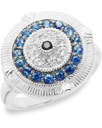 Judith Ripka - Silver & Gemstone Ring - Lyst