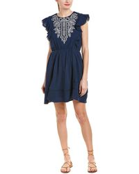 Moon River - Embroidered A-line Dress - Lyst