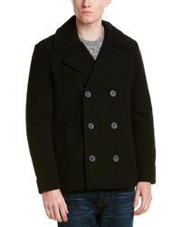 Kenneth Cole - Reaction Wool-blend Peacoat - Lyst