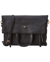 Tory Burch - Half-moon Foldover Leather Tote - Lyst
