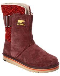 Sorel - Newbie Leather Short Boot - Lyst