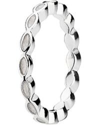 PANDORA - Better Together Silver Enamel Stackable Ring - Lyst