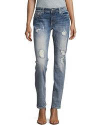 Miss Me - Mixed Pattern Skinny Pant - Lyst