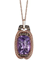 Le Vian - ® 14k Rose 6.09 Ct. Tw. Diamond & Amethyst Necklace - Lyst