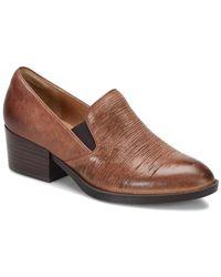 Söfft - Velina Leather Slip-on Loafer - Lyst